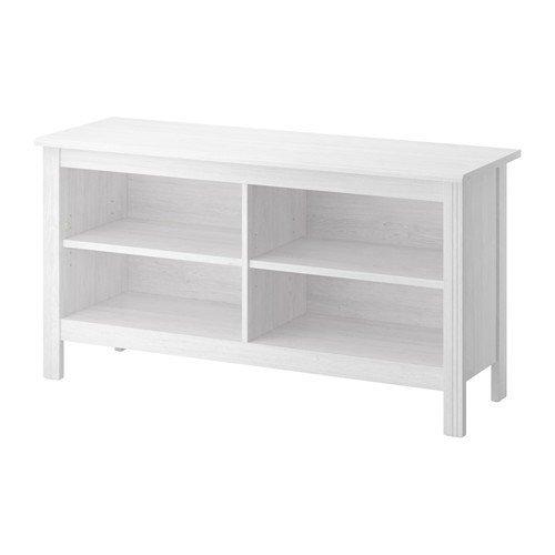 IKEA BRUSALI TV-Bank in weiß; (120x62cm)