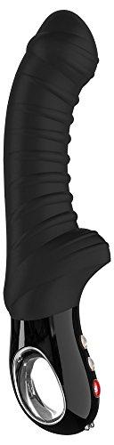 Fun Factory Vibrator G5 Tiger Black Line - großer Stimulator für sie, Rillen-Design, Vibrator für Frauen, Silikon, schwarz
