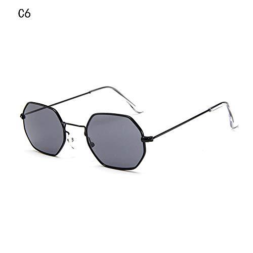 LAMAMAG Sonnenbrille Sonnenbrille Männer Kleine Quadrat Sunglases Frauen Metallrahmen Fahren Angeln Brille Zonnebril Mannen, U