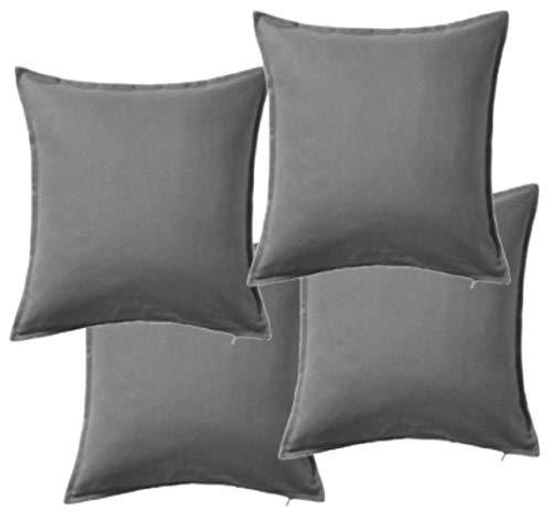 Ikea GurliHousse de coussin Gris 50x50cm, gris, Lot de 4