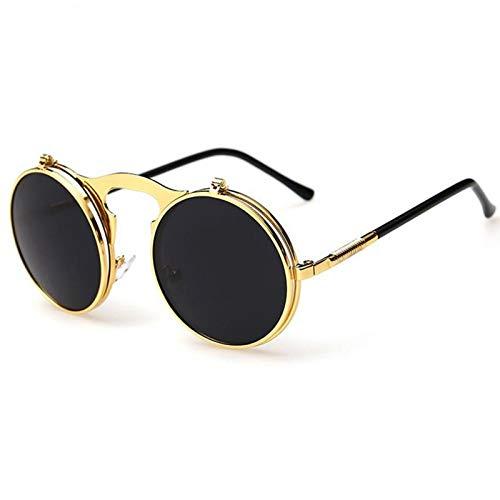 CCMOO Steampunk Sonnenbrille Runde Designer Steam Punk Metall Frauen Sonnenbrille Männer Retro-4