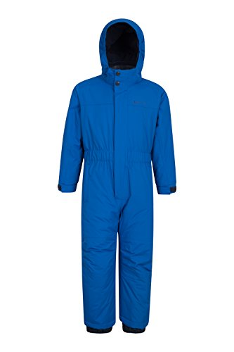 Mountain Warehouse Cloud All In One Schneeanzug für Kinder - Wasserfest, versiegelte Nähte, Winter-Jumpsuit, Skianzug mit Fleecefutter, Mädchen, Jungen Kobalt 116 (5-6 Jahre)
