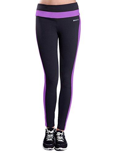 Baleaf Damen Sports Legging Fitness Strumpfhosen Dewberry XS (' Dewberry Bekleidung)