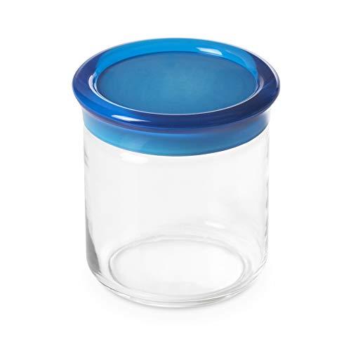 Pot en plastique de 0,75 litre de 12,5 cm de hauteur,Tourquoise, ligne Trendy d'Omadadesign