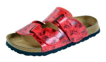 Betula  Step, chaussures à boucle femme Red Poésie
