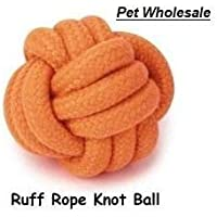 Pet Dog Knotted Rope Ball Toy for Small Dogs (Color May Vary)