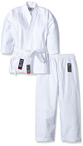 Blitz Poly Baumwolle Student Karate Suit-weiß, 5-180cm