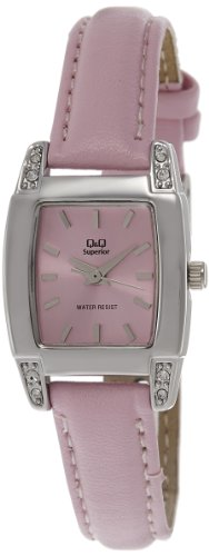 Q & Q Analog Pink Dial Women's Watch - S171-342Y