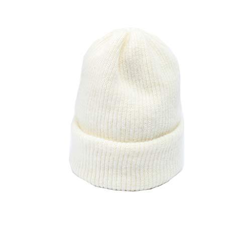 Nosterappou Bonnet décontracté simple, élasticité chaude et excellente, extensible, adapté aux activités de plein air, mode simple et polyvalente, bonnet tricoté de couleur unie et polyvalente, cadeau