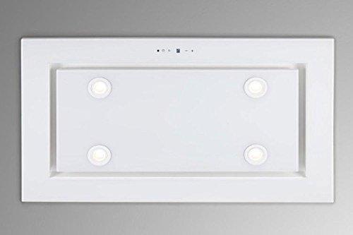 Dunstabzugshaube Deckenhaube 96cm EEK A F. BAYER Lux 96GW - 4x2W Power LED Beleuchtung - 4 Stufen mit 1 Turbostufe-Nachlaufautomatik