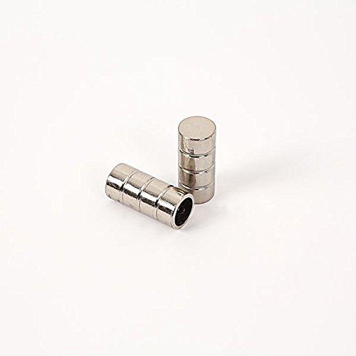 Ventanara Endstücke für Gardinenstange Zylinder Edelstahloptik Durchmesser 16mm 2er Set