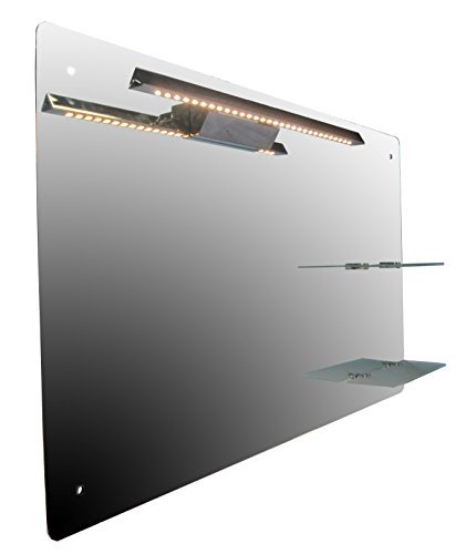 Spiegel-Infrarotheizung 170 Watt, LED-Beleuchtung, Infrarot-Glasheizung, HDW