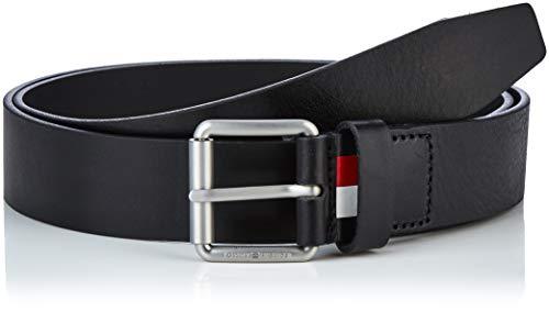 Tommy Hilfiger Downtown Roller Buckle Belt 3.5 Cintura, Nero (Black 002), 8 (Taglia Produttore: 100) Uomo