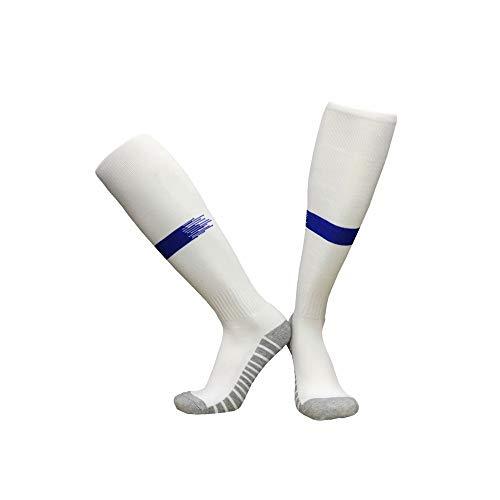 YAOSHIBIAN-Socks Starke schützende Sport-Kissen-Basketball-Kompressions-athletische Fußball-Socken für Jungen-Mädchen-Mann-Frauen-rutschfeste Fußball-Socken Lässig Bequem (Farbe : C2, Größe : Free) (Athletische Socken Jungen)