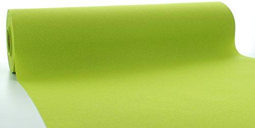 Sovie HORECA Linclass® Airlaid Tischläufer 40 cm x 24 m | Tischdecken-Rolle stoffähnlich | praktische Einmal-Tischdecke für Hochzeit oder Partys | Kiwi-Grün