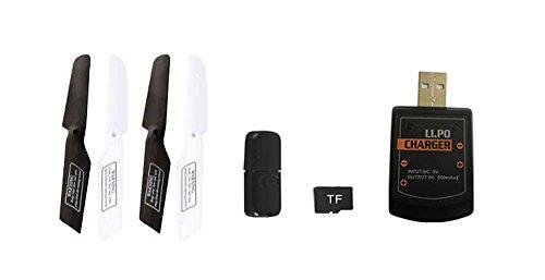 UDI RC U818A-1 HD UPGRADE SafeFly Special Edition mit Extra 3 POWER AKKUS-HD Kamera mit Tonaufzeichnung, 4 GB Micro SD Speicherkarte & SafeFly Sonnenbrille, Akku-Warner, 4.5 Kanal Drohne, LCD Display, GYROSCOPE-TECHNIK + 2,4Ghz TECHNOLOGIE, für INNEN und AUSSEN! FLUGFERTIG! - 7