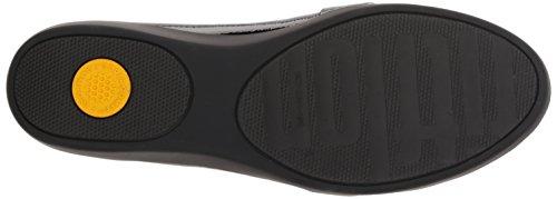 Fringey Sneakerloafer - Deep Plum Patent Black