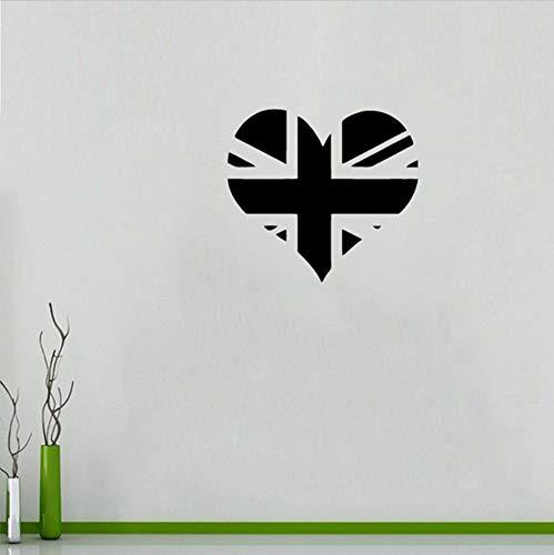 Mrhxly Gb Bandera Del Corazón Signo Logo Logo Reino