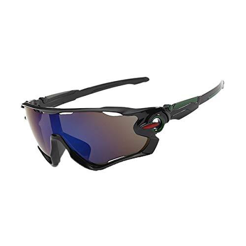 Zolimx Las Nuevas Gafas de Sol de la Lente UV400 Que Completan un Ciclo Los Vidrios de Ciclo de la Bici de Montaña de Los Deportes (Negro)