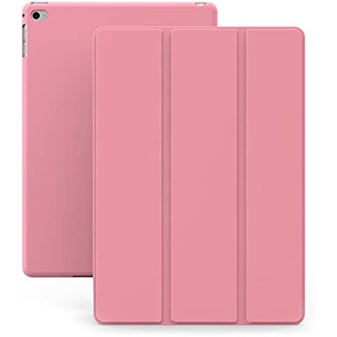 KHOMO Funda iPad Air 2 - Carcasa Rosa Ultra Delgada y Ligéra con Smart Cover para Apple iPad Air 2 - Dual Pink