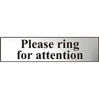 Asec Schild 6021C, Bitte Ring für attn.