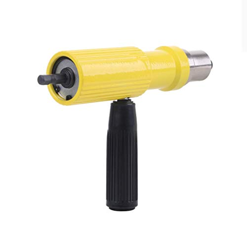 Hycy® 1 Satz Tragbare Niet Pistole Adapter Screwer Stecker Für Akku-Bohrer Elektrische Mutter Nieten Werkzeug Riveter Einsätze Geräte