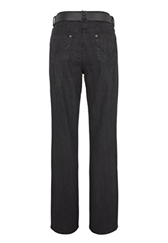 WomensBest Damen Bootcut Jeans Lindau Black Denim