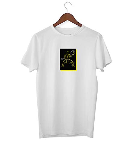 arrior Fight_KK017523 Shirt T-Shirt für Männer Herren Tshirt for Men Gift for Him Present Birthday Christmas - Men's - Large - White ()