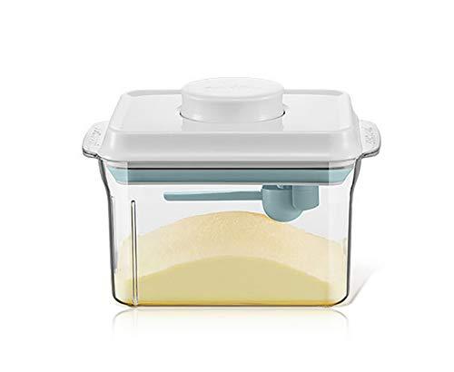 GHDE& Milch Pulver Spender - BPA-frei Milch Pulver Container, tragbar Versiegelt Essen Container zum Milch Pulver, Snacks, Getreide,White,1L -