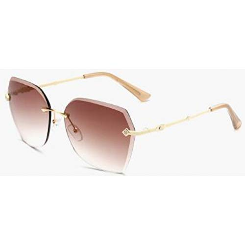 KCJKXC Randlose Sonnenbrillen-Frauen-Marken-Sonnenbrillen-Frauen- Schatten DerRetro-