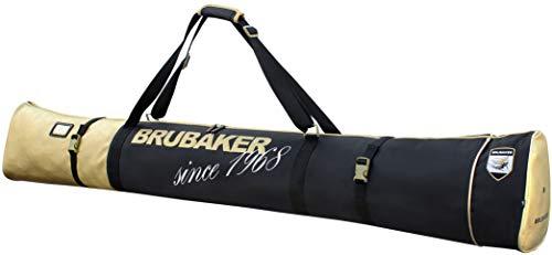 Brubaker Carver Pro St. Moritz Skisack für 1 Paar Ski und Stöcke - Schwarz Gold - 170 cm -