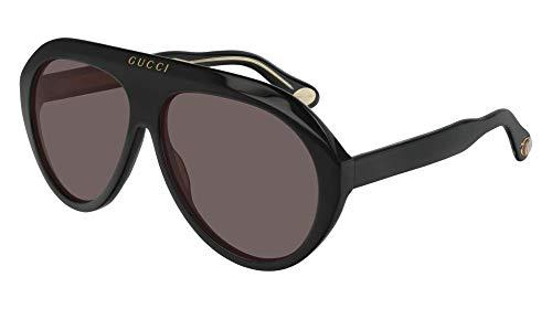 Gucci Sonnenbrillen (GG-0479-S 001) schwarz glänzend - gold - grau-braun