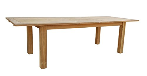 GRASEKAMP Qualität seit 1972 Teak Tisch 200/260x100 cm ausziehbar Esstisch Gartenmöbel Gartentisch Holztisch