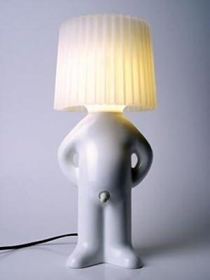 Mr. P One Man Shy Tischlampe - weiß/weiß von dfp Design - Lampenhans.de