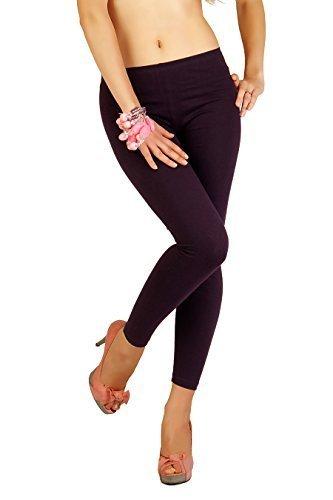 Futuro Fashion Inverno Stile Lunghezza Intera Caldo Spesso Cotone Pesante Leggings Tutte Le Misure 8-22P25 Plum 48