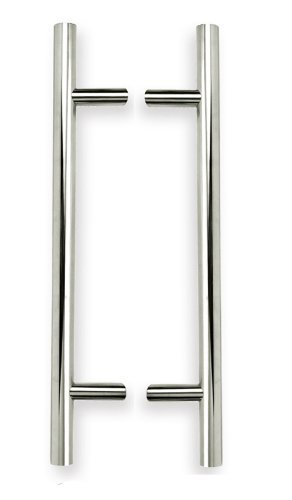 INOX KT-PHIX33318-32D-BTB Back-To-Back T-Shape Pull with 1-1/4-Inch Diameter and 18-Inch CTC, Satin Nickel by INOX