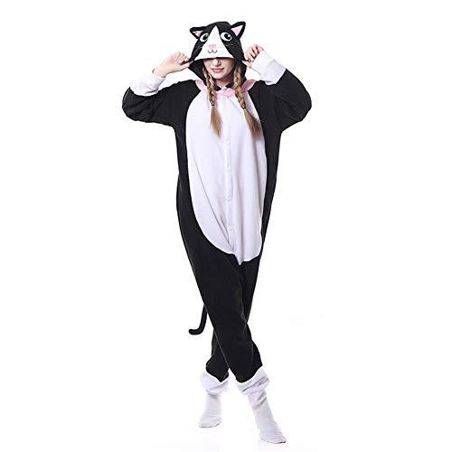 (HLDUYIN Animal Cosplay Kostüm Onesie Pyjamas Lange Schwanzlemur Lange Ärmel Unisex Erwachsene Xmas Geschenk,4,S)