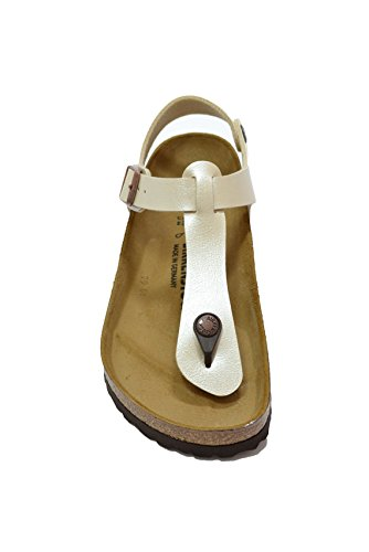 BIRKENSTOCK Damen Kairo Knöchelriemchen Sandalen Beige (Marron Graceful Pearl White Marron Graceful Pearl White)