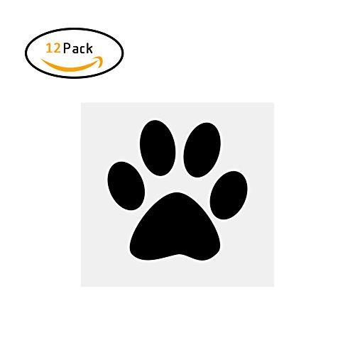 Nautische Außenwand (Zantec 12 STÜCKE Niedlichen Hund Fußabdruck Wandaufkleber Kunst Wandbilder für Wohnzimmer Kinderzimmer Dekoration (7,25 * 8,5 CM))