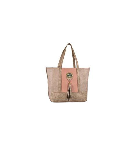 Sac Shopping Lili Petrol Rose et Bronze CHLOE Similicuir PA31 BROWN
