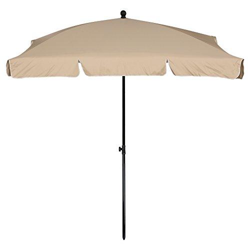 Aktive-Parasol de Balcon rectangulaire 200x 120cm et de Couleur Beige (85090)