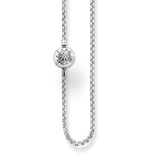 Thomas Sabo Damen-Kette Karma Beads 925 Sterling Silber Länge 90 cm KK0001-001-12-L90