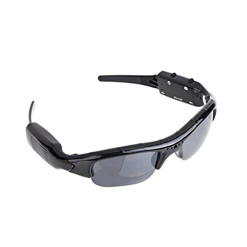 1280 x 720 Pixel Spy Brille DVR HD Video Kamera Polarisierte Kamera Sonnenbrille mit USB Kabel Port und TF-Kartenschlitz, Smart Mobile Eyewear Voice and Video Recorder für Outdoor, Sport etc.