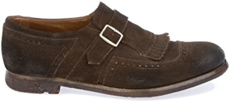 Church's Herren SHANGHAIBROWN Braun Leder Monk Schuhe