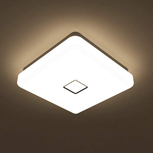 Onforu 24W LED Deckenleuchte 2100lm | 2700K Warmweiß LED Deckenlampe | IP65 Wasserdicht | Modern Innen- und Außenleuchte für Wohnzimmer, Küche, Badezimmer, Balkon etc. -