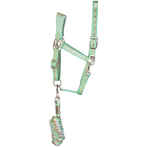 HV Polo - Headcollar and Rope Favouritas - Halfter und Strick - Pistache