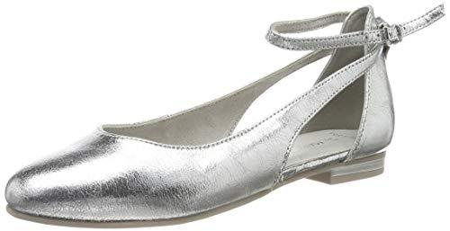 Marco Tozzi 2-2-24227-32, Bailarinas para Mujer, Silver 941, 37 EU