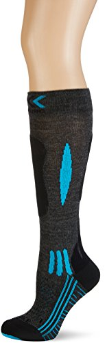 X-Socks Funktionssocken Effektor Ski Race Lady, Grey/Black/Turquoise, 39/40, S100007 (Socke Race Ski)