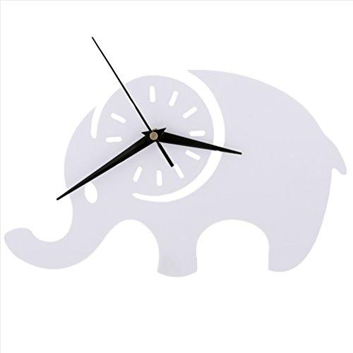 LOTOS Éléphant Horloge murale Chambre d'enfant Chambre Horloge silencieuse Belle famille Décoration Boutique