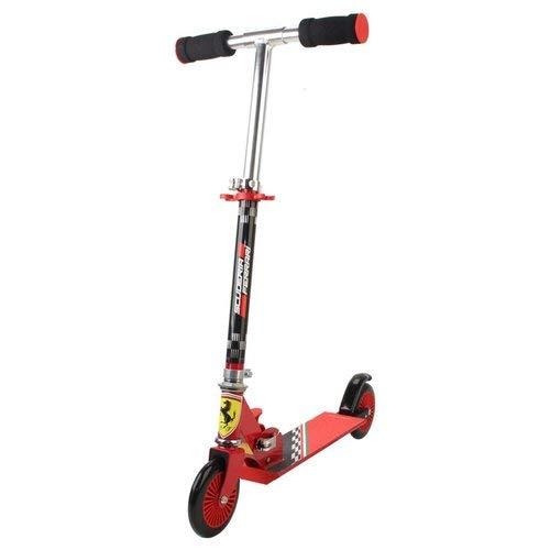 Monopattino Rosso Ferrari per bambini 3-10 anni, ruote 125mm, Acciaio e Alluminio